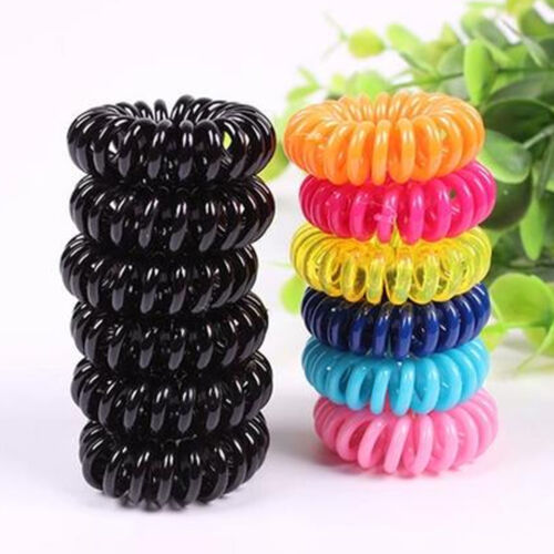 12X Girl Baby Spiral Elastic Rubber Hair Ties Rope Ponytail Holder Bobbles  Band 8 8 of 9 ... f60774ff91b