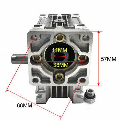 50:1 Worm Worm Gearbox Reducer,Nema23 Flange 11mm Input,NMRV030 Gear for Stepper 3