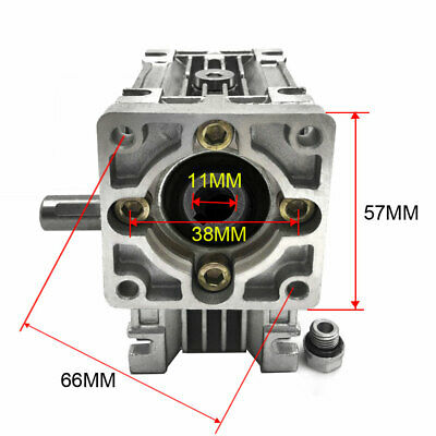 NMRV030 NEMA23 Gearbox 30:1 Worm Geared Speed Reducer for CNC Stepper Motor 2