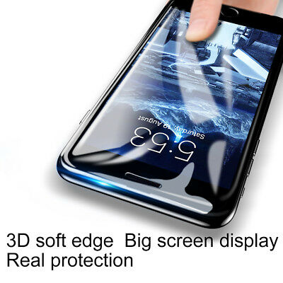 3D Full Coverage Tempered Glass Screen Protector for iPhone XS X 8 7 6s 6 Plus