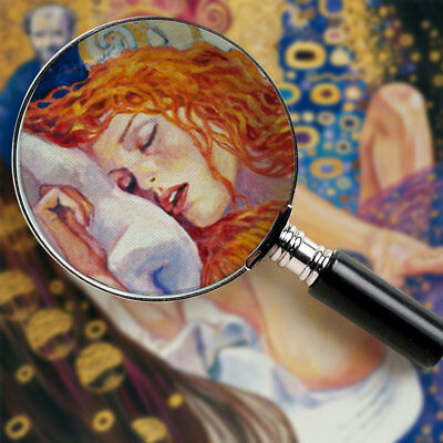 Quadro Milo Manara Il pittore e la modella Klimt Stampa su Tela Poster Tavola