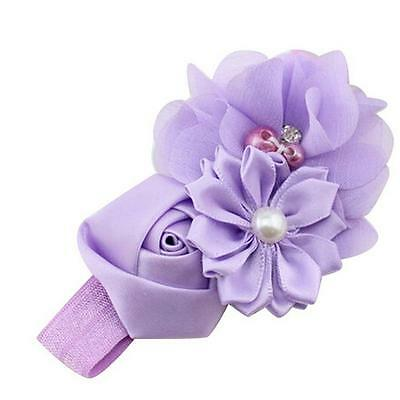 Baby Girls Flower Hairband Soft Elastic Headband Gifts Hair Accessories Band 4