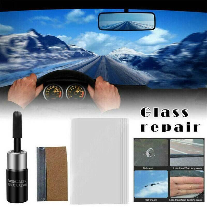 Car Automotive Glass Nano Repair Fluid Kit Window Glass Crack Chip Repair Tools 5