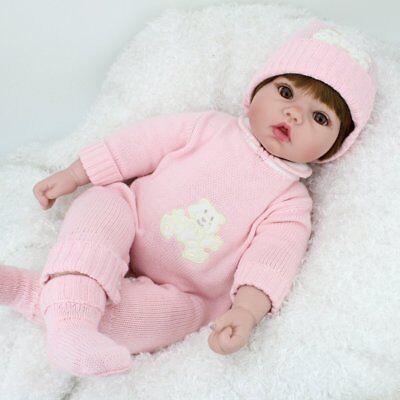 22'' Reborn Baby Dolls Realistic Vinyl Silicone Newborn Dolls Xmas Gift Girl Toy 2