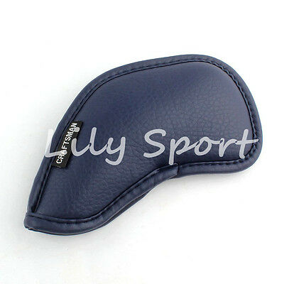 12PCS Blue PU Leather Golf Club Iron Covers Headcovers For Mizuno Ping 3-SW Set