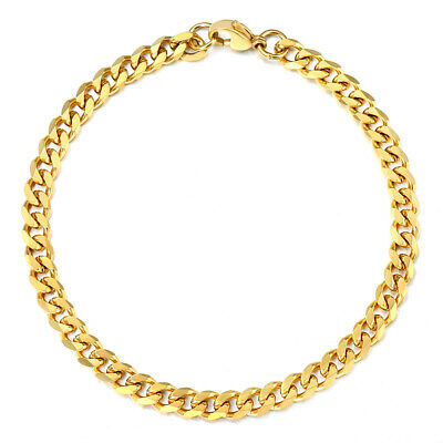 """18""""-36"""" Stainless Steel Gold Tone Chain Cuban Curb Mens Necklace 3/5/7/9/11mm 11"""