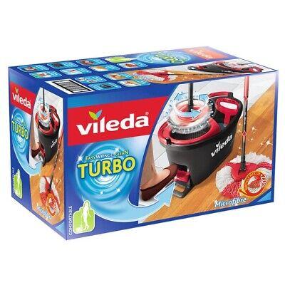 Vileda Wischmop Turbo EasyWring & Clean Box Bodenwischer schwarz/rot 2