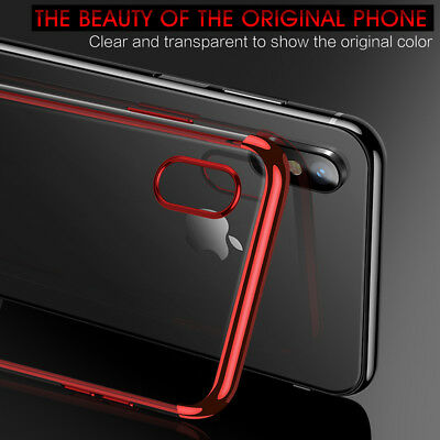 iPhone X XS MAX XR 8 7 Case Shockproof Soft Bumper Tough Gel Clear Cover Apple 3