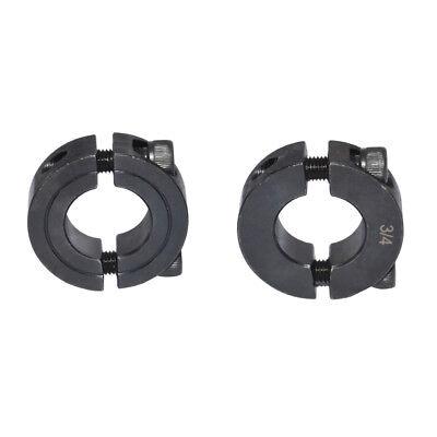 Bore 1/4 3/8 1/2 5/8 3/4 7/8 1 inches Double Split Shaft Collars Oxide Set Screw 6