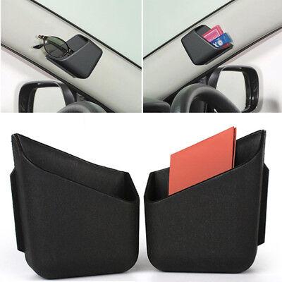 2x Glasses Organizer Storage Box Holder Black Universal Cars Accessories Useful 2