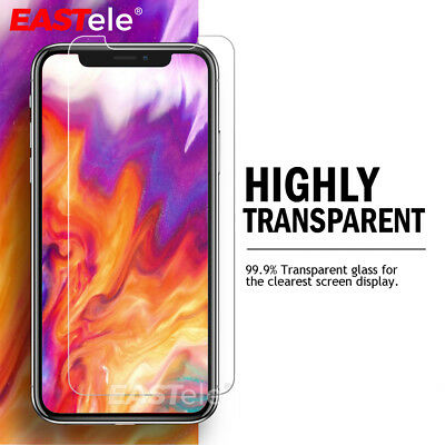 2x Apple iPhone XS MAX XR X GENUINE EASTele Tempered Glass Screen Protector Film 2