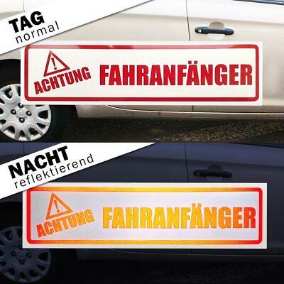 Fahranfänger - sorry! keep smiling Magnetschild Schild magnetisch 2