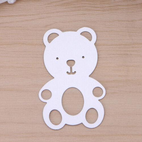 DIY Lovely Teddy Bear Cutting Dies Stencil Scrapbooking Album Paper Card Craft