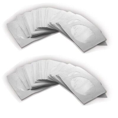 1000 CD/DVD/BLURAY PAPIER HÜLLE PAPIERHÜLLEN 1FACH BOX FÜR CDs DVDs BD ROHLINGE