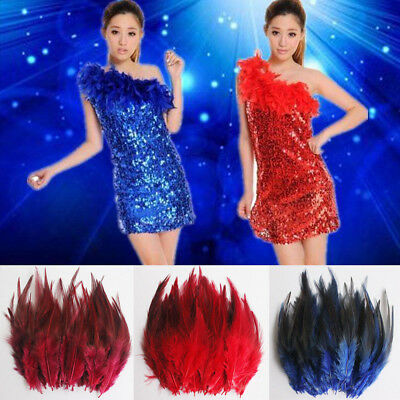 50Pcs Fluffy Rooster Tail Feathers For DIY Craft/Dress/Carnival Party Decoration 9