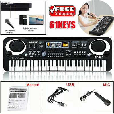 Kid's Electric Keyboard Digital Music Piano 61 Keys Instrument & Microphone Gift 8