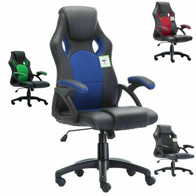 Office Chair Executive Racing Gaming Swivel Pu Leather Sport Computer Desk 2