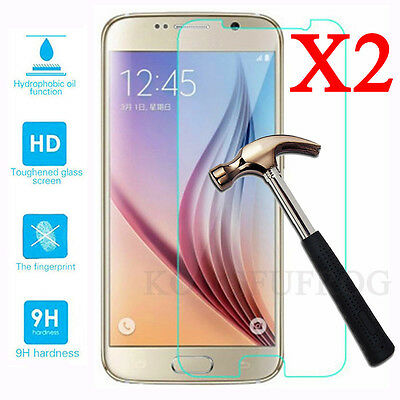 2Pcs HQ 9H Premium Tempered Glass Screen Protector Film For Samsung Galaxy Phone 2