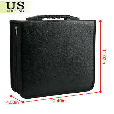 400 Disc CD DVD Organizer Holder Storage Case Bag Wallet Album Media Video Black 5