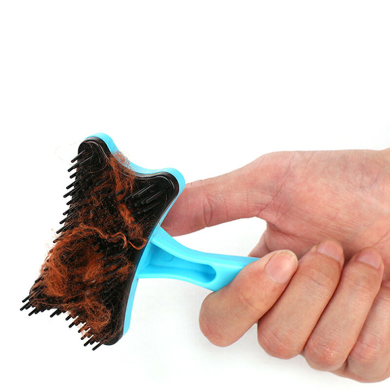 Pet Brush Dog Cat Puppy Hair Grooming Shedding Tool Comb Trimmer Bath Massage 11