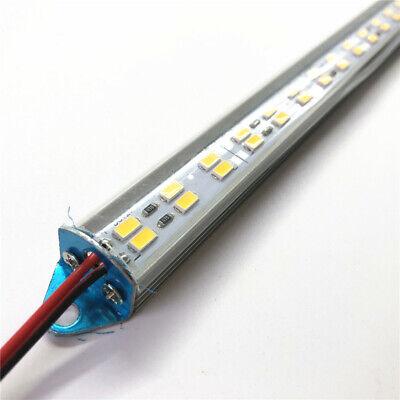 Dual Row 5630 1m 0.5m Led Strip Hard Bar Aluminum Case Milk Clear Cover Cap 12 V 5