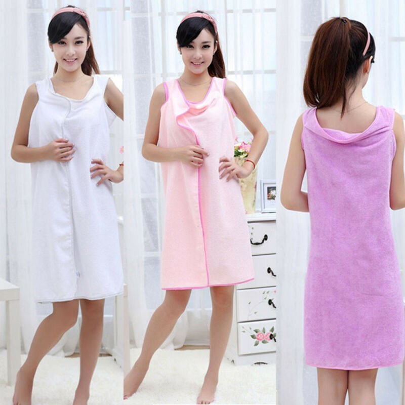 Microfiber Robes Wearable Towel Robe Spa Fast Dry Towel Bathrobes For Women Soft 4