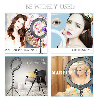 """18"""" LED SMD Ring Light Kit with Stand Dimmable 5500K for Makeup Phone Camera 12"""