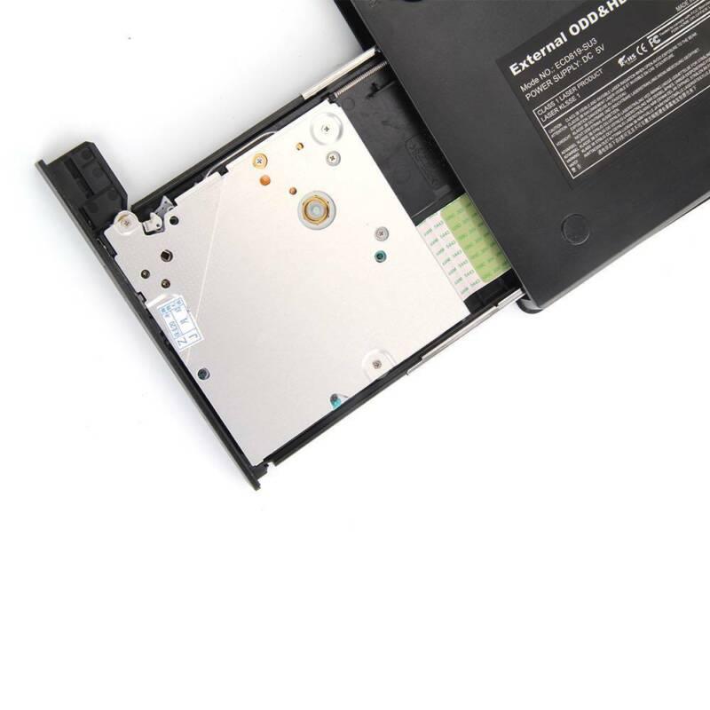 Slim USB 2.0 External CD-RW DVD ROM Drive Writer Reader Burner For Laptop PC UK 12
