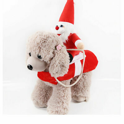 Christmas Santa Claus Pet Dog Fancy Dress Jacket Coat Costume Outfit Clothes UK 6
