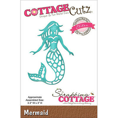 MERMAID Die Craft Steel Die Cutting Die Cottage Cutz CCE-279 New