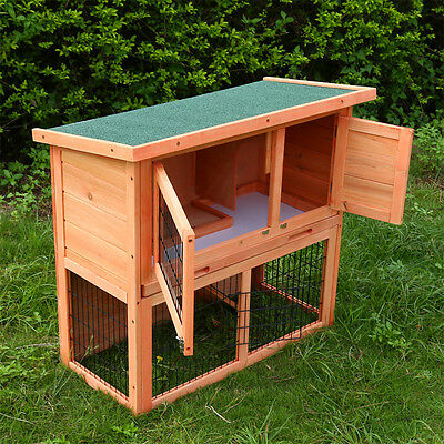 3Ft Outdoor Rabbit Hutch Run Wooden Guinea Pig Bunny Pet House Garden Cage Local 11
