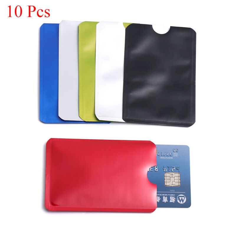For RFID Secure Protector Blocking ID Credit Card Sleeve Holder Case Skin 10pcs 3