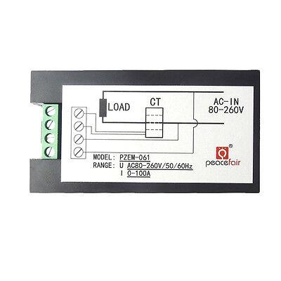 100A AC Digital LCD Power Panel Meter Monitor Power Energy Voltmeter Ammeter NEW 9