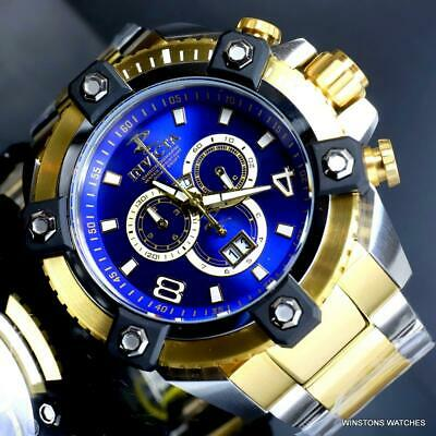 Invicta Reserve Grand Octane Arsenal 2 Tone Steel 63mm Swiss Mvt Blue Watch New 8