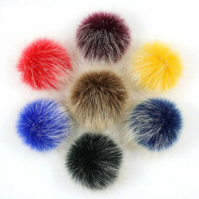 5e709035bef 8 of 12 Faux Fox Fur Pom Pom for Hat with Press Button Fake Fur Hat Bubble  Removable uk