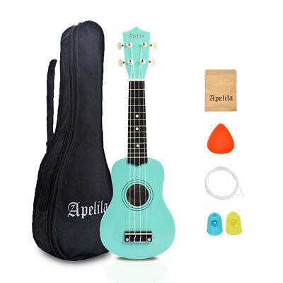 21 inch Soprano Ukulele Apelila Acoustic Mini Guitar Music Instrument + Gig Bag 10