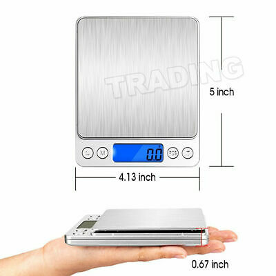 0.01-500g Kitchen Food Scale Digital LCD Electronic Balance Weight Postal Scales 7