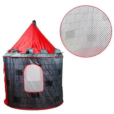 deAO Red Castle Pop up Play Tent Christmas Gift for Kids Children Playhouse 7