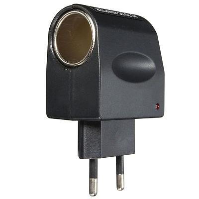 EU Stecker 220V AC Power zu 12V DC Auto Zigarettenanzünder Konverter Adapter AA 4