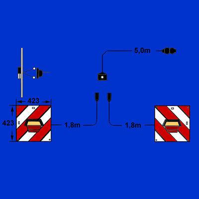 L2 DIN11030 2x Warnfolie 141x846mm Typ:L1