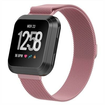Milanese Loop For FITBIT VERSA Magnetic Stainless Steel Watch Band Strap S/L US 3