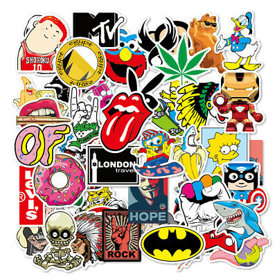 100 Skateboard Stickers bomb Vinyl Laptop Luggage Decals Dope Sticker Lot cool 3