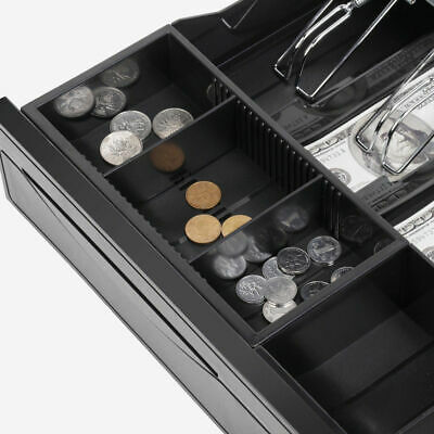 Manual/Electronic Heavy Duty Cash Drawer Cash Register POS 5 Bills 5 Coins Tray 7
