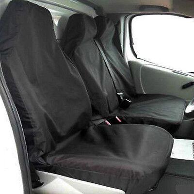 Racing Grey 2+1 Quilted van Seat Covers For VAUXHALL VIVARO SPORTIVE VAN