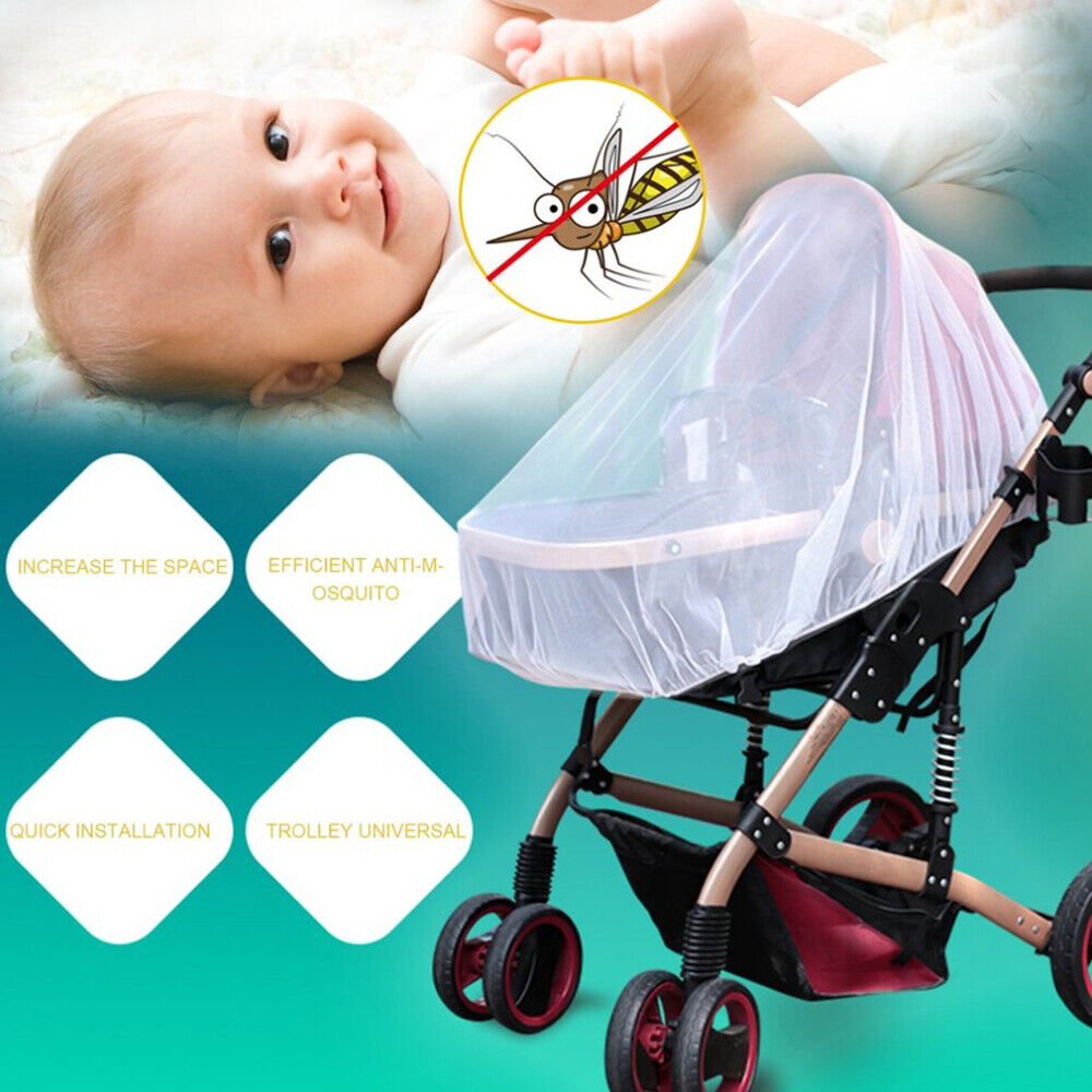 Anti Mosquito Fly Insect Net Mesh Buggy Cover For Stroller Pushchair Pram Hot 3