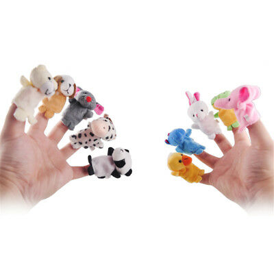 10Pcs/Pack Baby Kids Finger Animal Educational Story Toys Puppets Cloth Plush 2