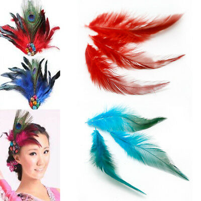 50Pcs Fluffy Rooster Tail Feathers For DIY Craft/Dress/Carnival Party Decoration 5