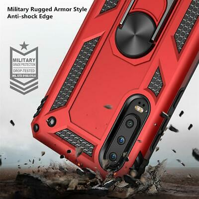 For Huawei P30 Lite P30 Pro Heavy Duty Rugged Rotating Magnetic Ring Cover Case 4