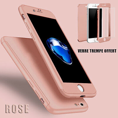 Housse Etui Coque 360 Protection Iphone 6/Plus/7/8/X/5S/Se + Vitre Verre Trempe 3