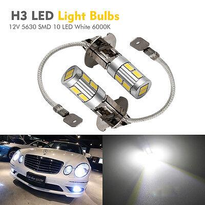 2x Xenon Weiß 13 SMD 5050 LED H3 453 Nebelleuchte Tagfahrleuchte Lampe Licht 12V